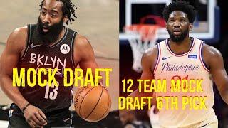 12 Team Mock Draft 6th pick Fantasy Basketball Yahoo Sports screenshot 4