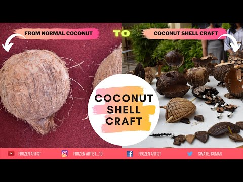COCONUT SHELL CRAFT II DIY II Sustainable Product II Save EnvironmentII Documentary