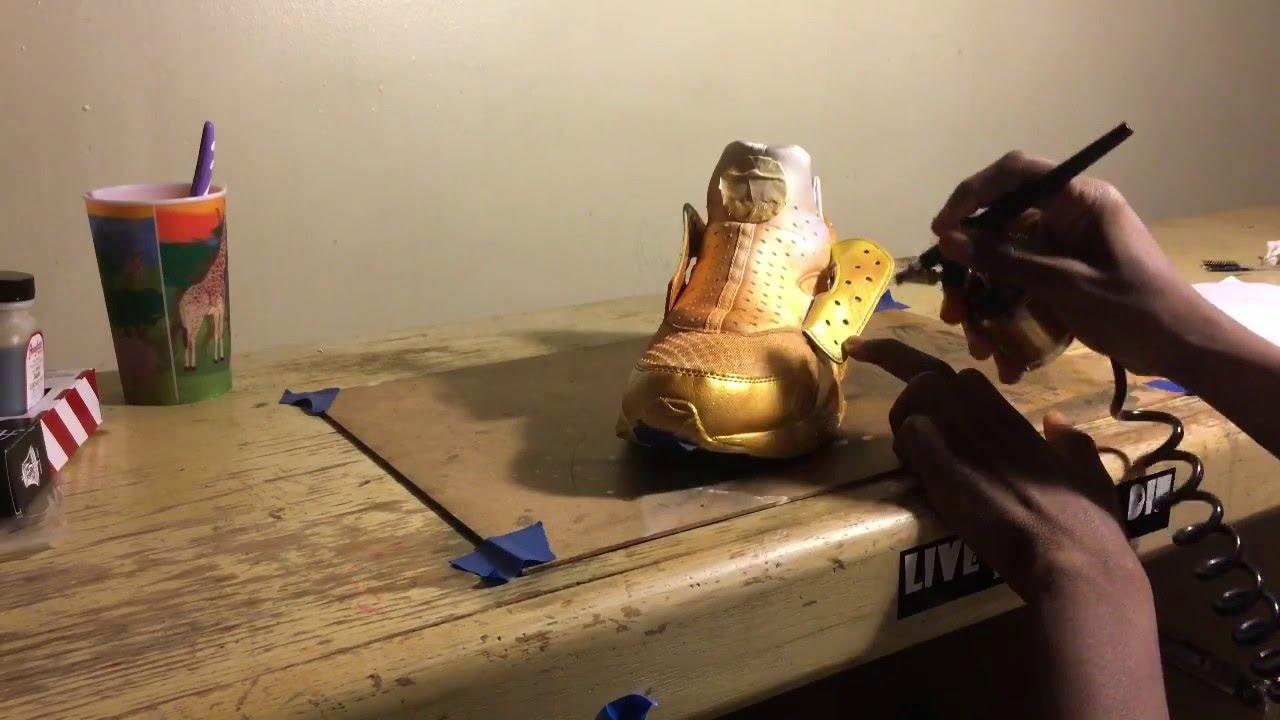 Custom Gold Huaraches - YouTube 862b3a4ca