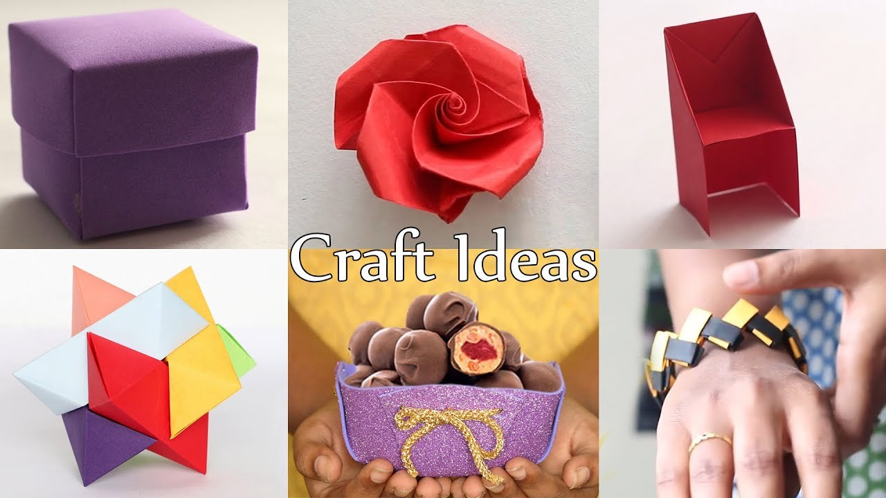 6 Best Crafts Diy Craft Ideas Ventuno Art Youtube