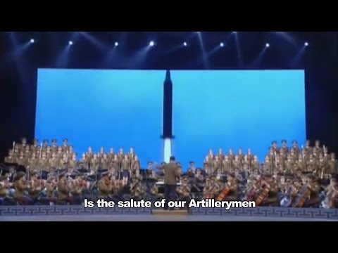 Artillery Song [English] North Korea Music