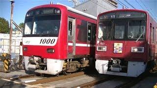 京急1000形1473F&1500形1521F 大師線東門前-産業道路の踏切にて