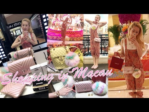 VLOG - LUXURY SHOPPING IN MACAU 🇲🇴 PART 1 ❤️ CHANEL, GUCCI, CARTIER & MORE 🛍 + KPOP IN PUBLIC 😱👯♀️