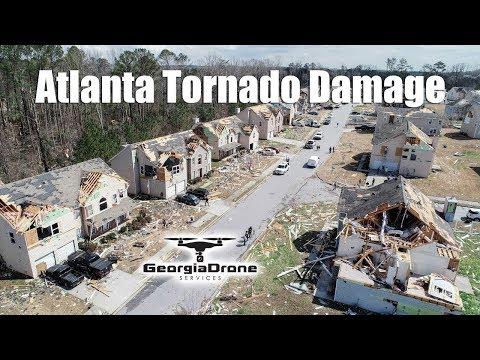 Atlanta Tornado Damage in Chestnut Ridge Subdivision