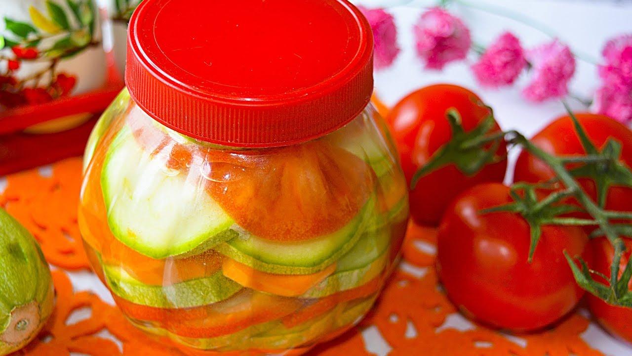 помидоры с кабачками