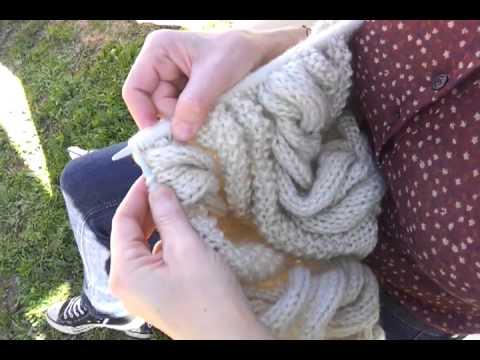 Diy hacer ochos en punto con dos agujas crochet to - Hacer punto con dos agujas para principiantes ...