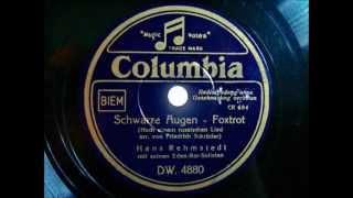 Orchester Hans Rehmstedt - Schwarze Augen - Foxtrot 1940