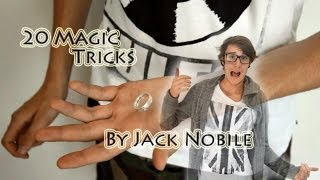 Jack Nobile 20 magic tricks in 2 minutes Floating ring, invisible impossible magic
