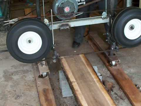 Sawmill band homemade youtube for Electric motor for bandsaw