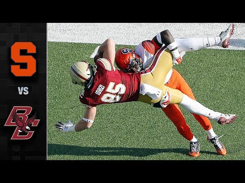 Syracuse QB Eric Dungey Runs Over BC Defense For TD - YouTube 900647906