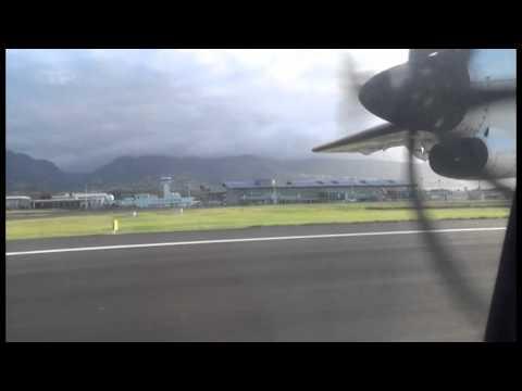 AIR MAURITIUS  ATR 72-500 ATTERRISSAGE ÎLE DE LA REUNION
