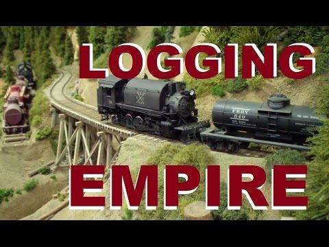 AMAZING O SCALE Logging & Lumber Railroad ~ Clear Creek Train Layout