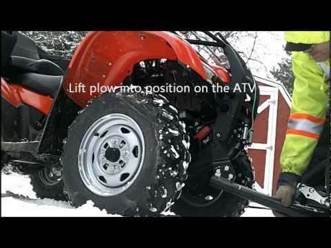 Install & Removal of a WARN PROVANTAGE Plow System on a Honda Rancher TRX420FMD
