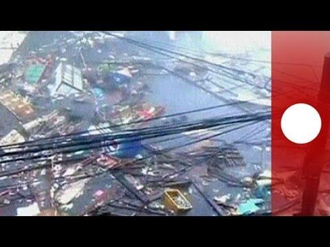 Video: Colossal 'super typhoon' Haiyan slams Philippines
