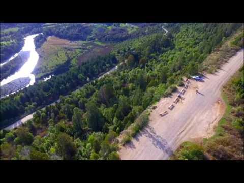 Mirador del Rio Azul, El Bolson Rio Negro, drone Aerofilmaciones Patagonia