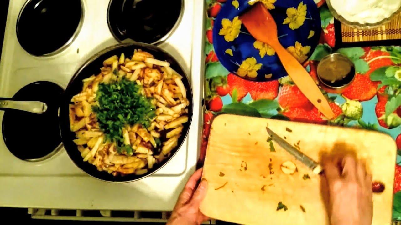 как пожарить вкусно картошку с вешенками