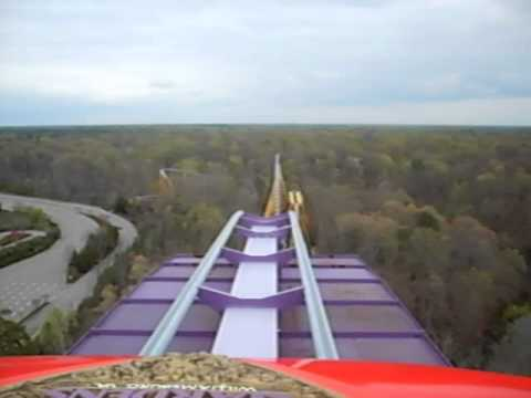 Apollou0027s Chariot Roller Coaster Ride At Busch Gardens In Williamsburg,  Virginia POV