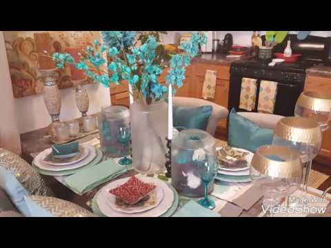 Dining table decor tablescape