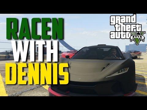 "'OH MY GOD, DENNIS!' | GTA V Races w/ crew #1 | ""GTA V funny races"""