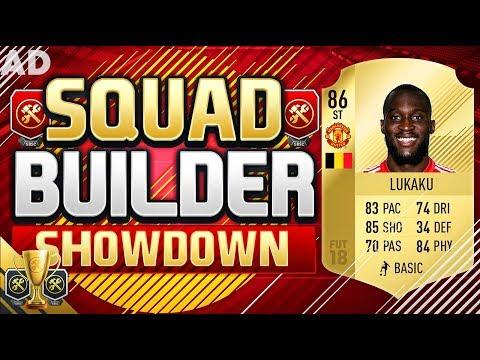 THE SQUAD BUILDER SHOWDOWN CeX CUP FINAL!!! FIFA 18 ROMELU LUKAKU SQUAD BUILDER SHOWDOWN!!!