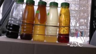 Тест трансмиссионного масла Лукойл, КЗМ при -25.