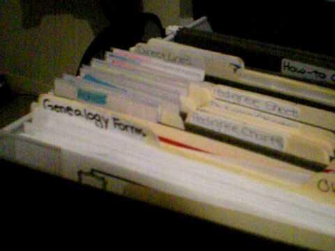 How I organize my genealogy