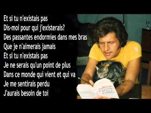 Joe Dassin : Et si tu n'existais pas + Paroles