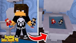 Minecraft Toys #8 - THE BULLY KID FLUSHES US DOWN THE TOILET!!