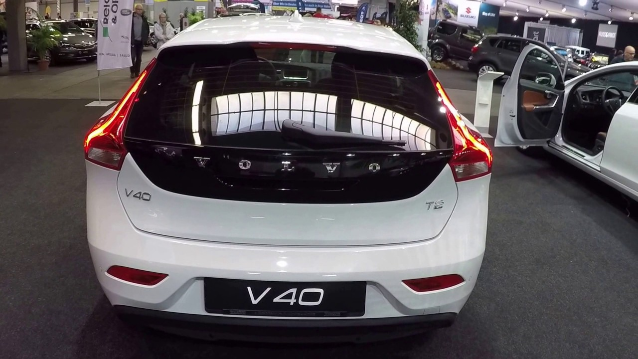 volvo v40 t2 kinetic polar white colour walkaround and interior youtube. Black Bedroom Furniture Sets. Home Design Ideas