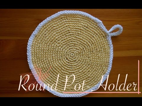 Download Youtube: Round Crochet Pot-Holder - Video Tutorial (left-handed)