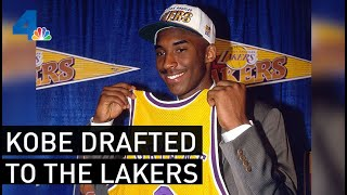 Footage of Kobe Bryant Getting Drafted to the Los Angeles Lakers | From the Archives | NBCLA