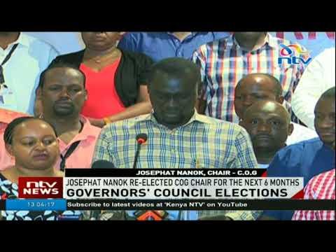 Turkana governor Josphat Nanok reelecetd CoG chairman for the next 6 months