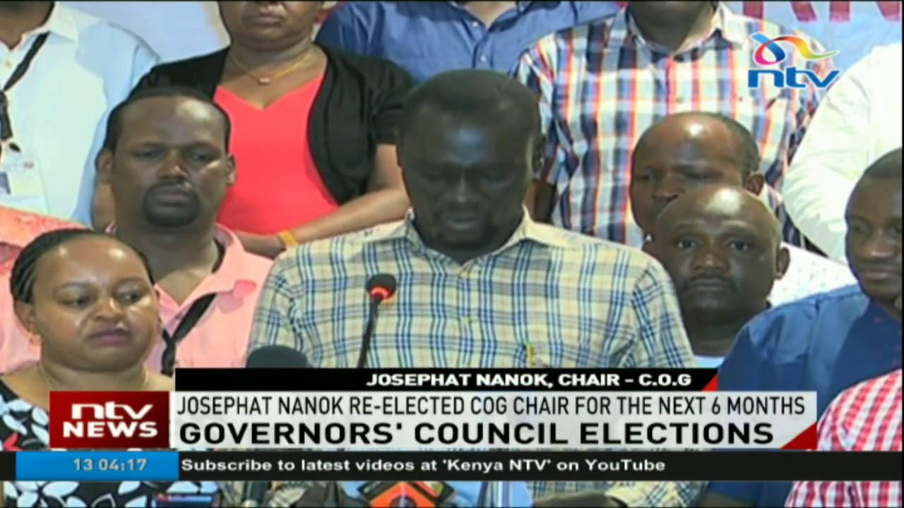 Turkana governor Josphat Nanok reelected CoG chairman for the next 6 months