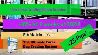 Growth Target Hit! 16% To Start 2021- FibMatrix Live Forex Trading Room Session -Come Trade With Us!