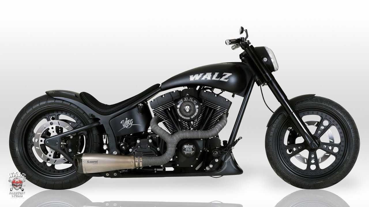 "⭐️ Harley Davidson Softail Dragster Adrenaline ""Varg"" by Walz Hardcore Cycles  - CustomBike Review"