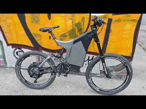 elektro bike mit 5000 watt gel ndefahrt up downhill. Black Bedroom Furniture Sets. Home Design Ideas