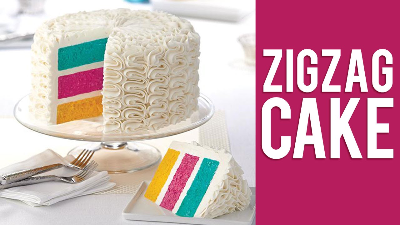 Cake Decorating Zig Zag : How to Make a Buttercream Zig Zag Cake - YouTube