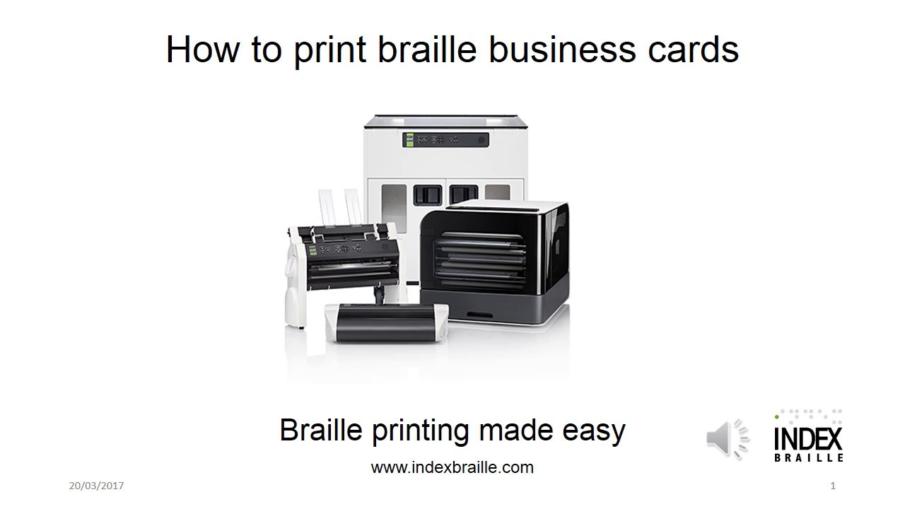 How to print braille business cards with Everest-D V4/V5 - YouTube