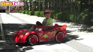 디즈니카 라이트닝 맥퀸 타고 카레이서가 된 라임! 어린이 자동차 드리프트 놀이 LimeTube & Toy 라임튜브