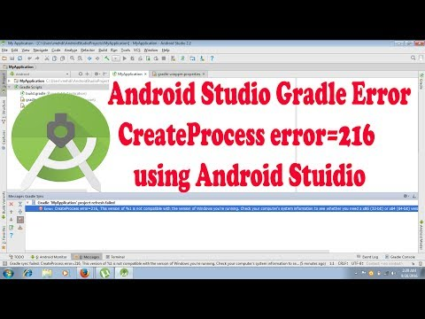 Android Studio Gradle Error- Create Process error=216