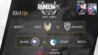 Pro League Rainbow Six - Vitality vs Penta Sports // Millenium vs 1UP eSport.