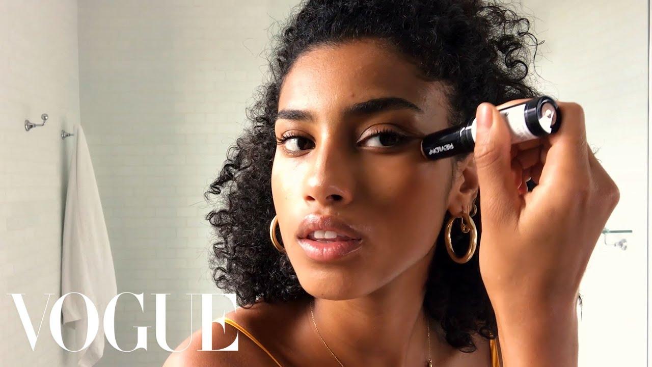 "Imaan Hammam's ""No Sleep"" Beauty Routine | Beauty Secrets | Vogue"
