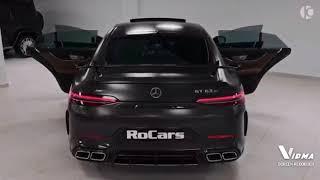 Mercedes - AMG GT 63 S Top Super Car in a dark black Colour: