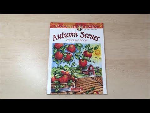 autumn-scenes---creative-haven-coloring-book-flip-through