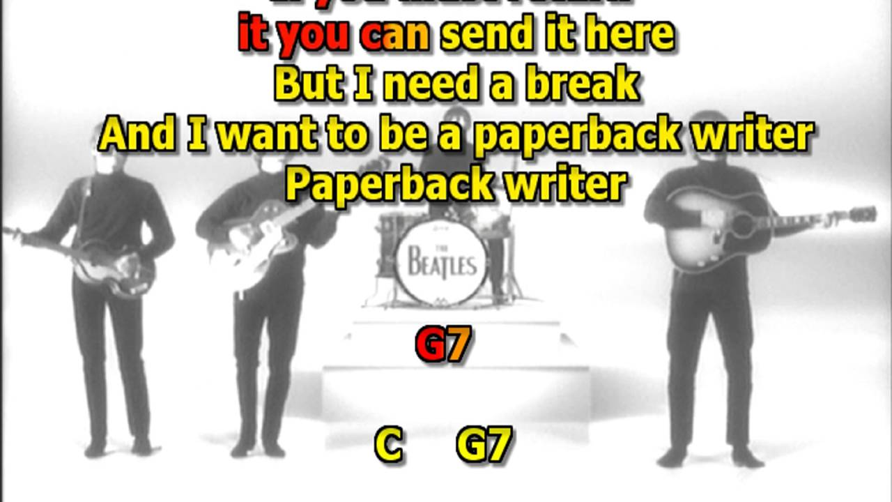 paperback writer lyrics Paperback writer is a pop rock song credited to lennon/mccartney and was released by the beatles on the a-side of their eleventh single it went to the number one spot in the united states, britain, west germany, australia, new zealand and norway this was the first uk beatles single that was.