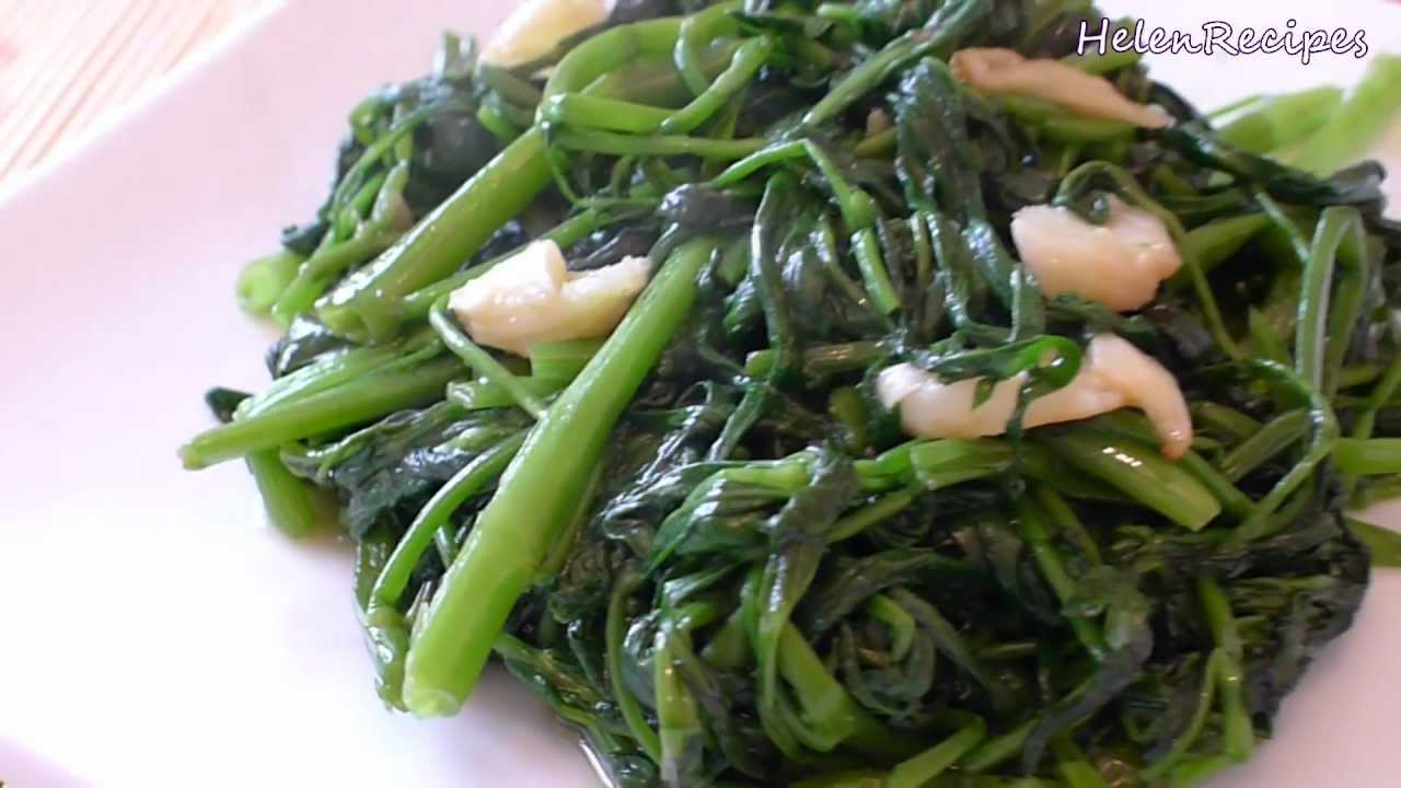 Stir-fried Water Spinach with Garlic (Rau Muong Xao Toi)