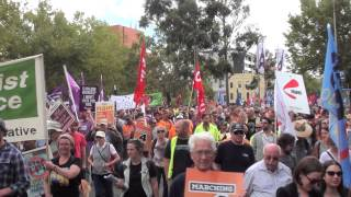 Stand Up Fight Back - Melbourne Rally 4 March 2015