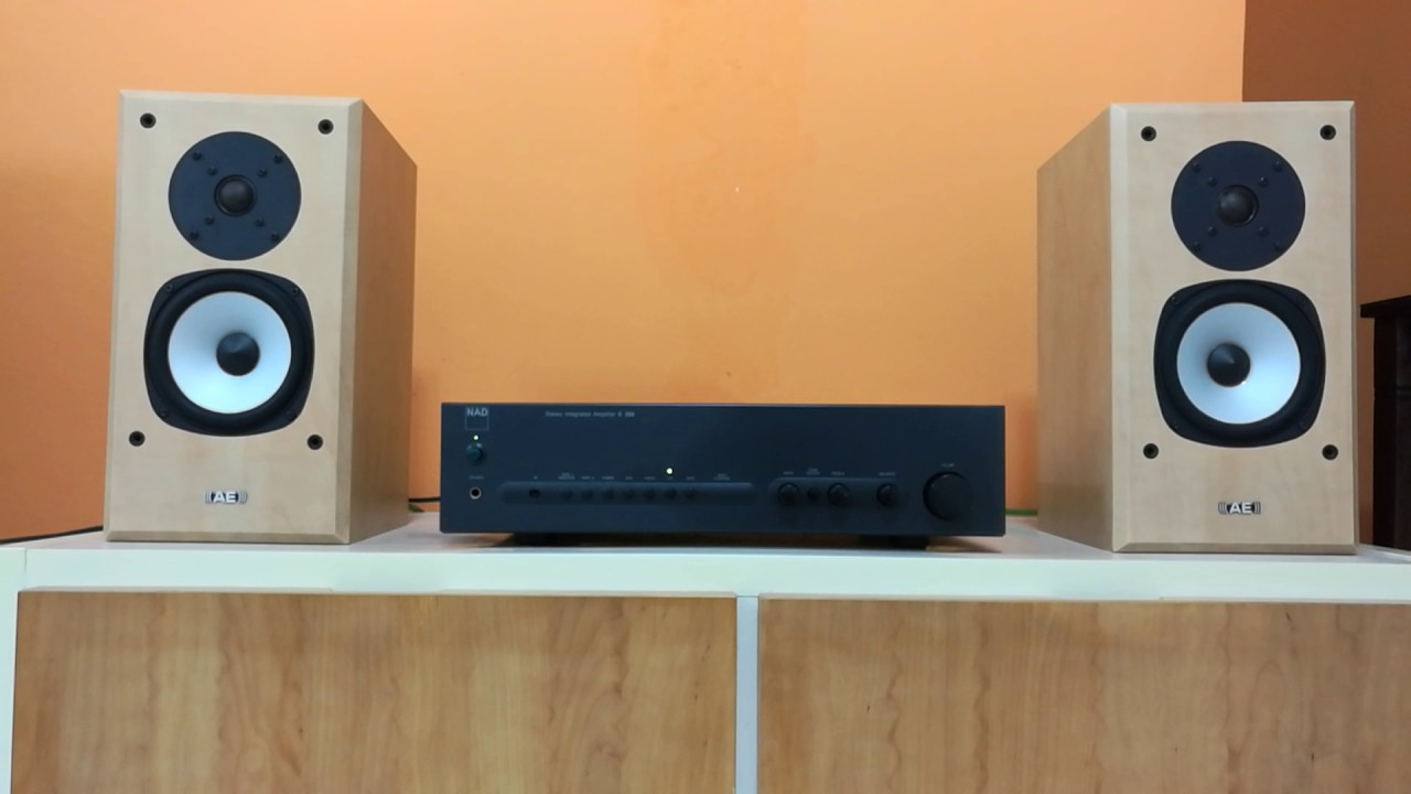 Nad C350 amplifier paired with Acoustic Energy Aegis Evo One speaker