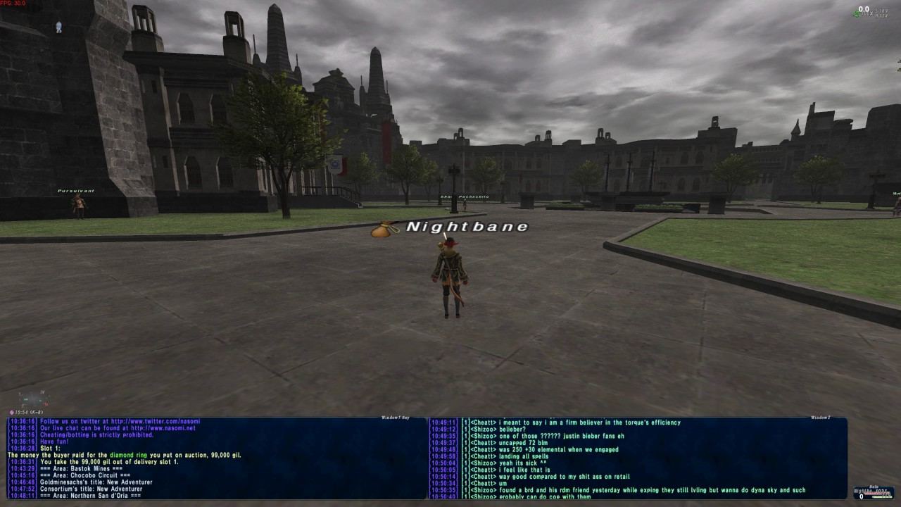 FFXI Nasomi Server More in Depth guide and why i don't play as much now