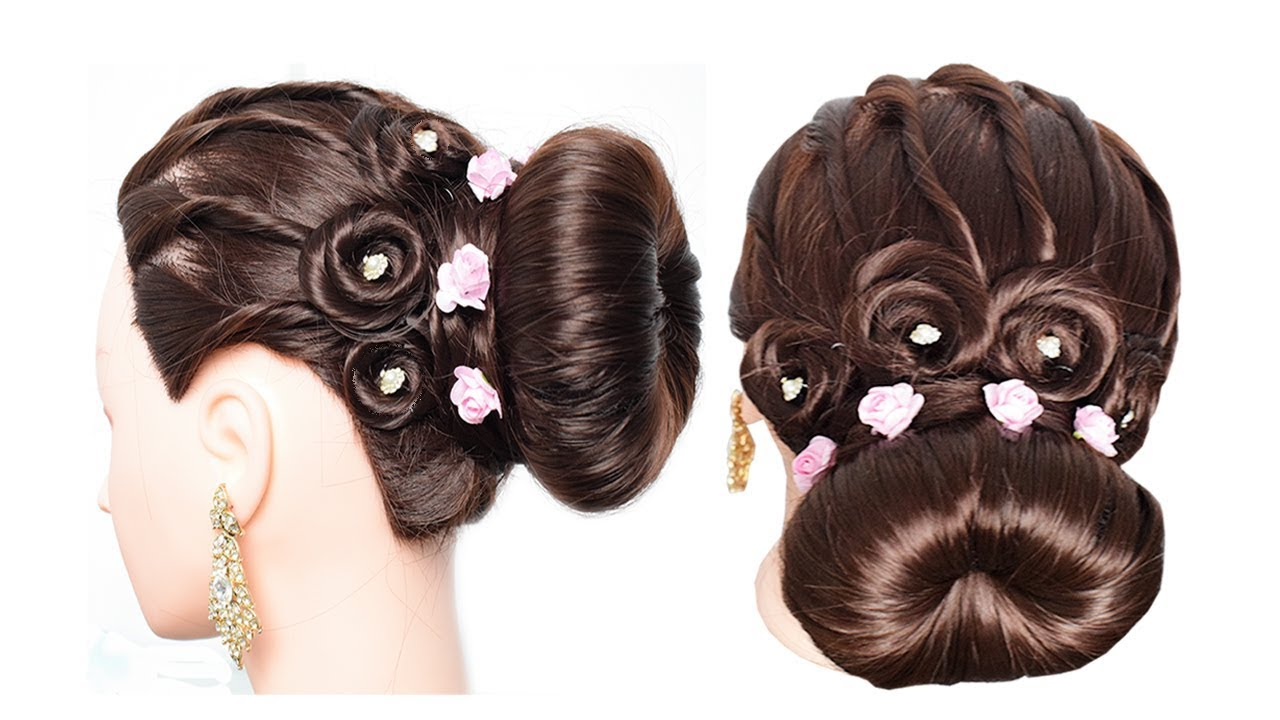 Easy And Simple Party Hairstyle Easy Juda Hairstyle For Wedding